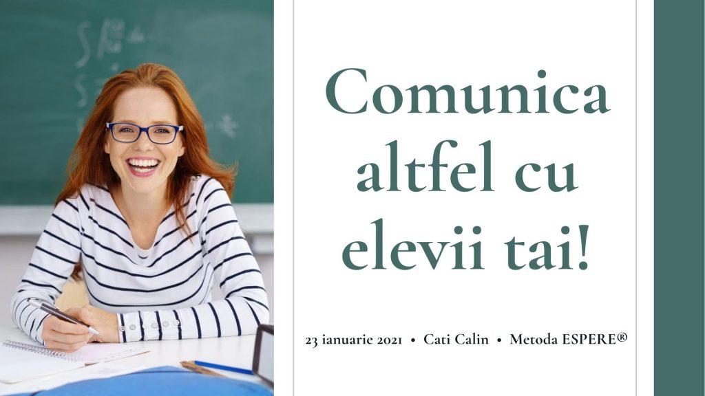 Comunica altfel cu elevii tai - Metoda ESPERE